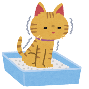 猫のトイレのイラスト