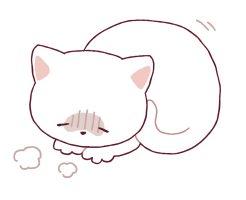具合の悪い猫のイラスト