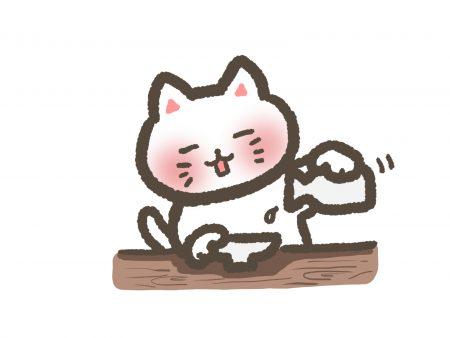 酒を飲む猫